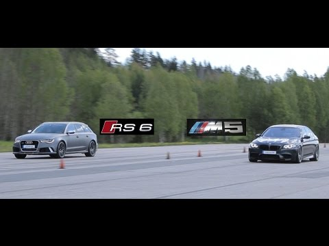 Tuned Audi RS6 Vs Tuned BMW M5 F10 (Bimmers Of Sweden Official)