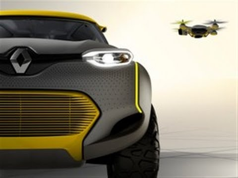 0 Renault Kwid, a concept Car with built in tiny Drone