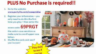 PARTYLITE Room Makeover * Instant Win Game & Sweepstakes