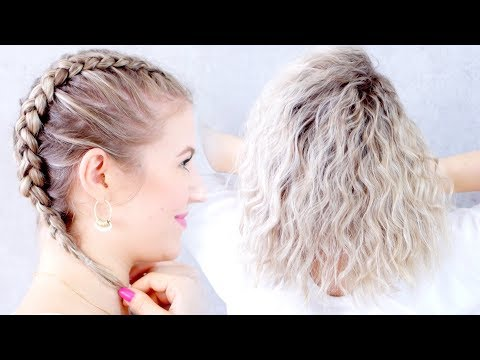 Hairstyles for short hair - How To HEATLESS CURLS Overnight Tutorial!  Milabu