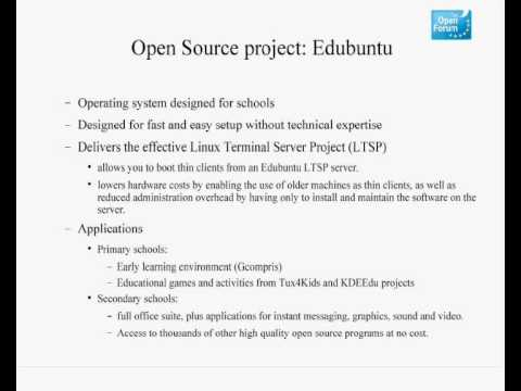 Open Source Software for Education (3/6)