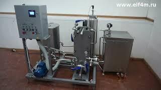 Видео: Комплект оборудования для пастеризации молока ИПКС-013-1500 с регистратором и выгрузкой данных через USB-интерфейс.