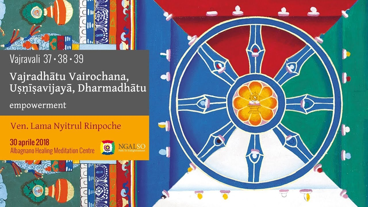 Vajravali 37-38-39 - Vajradhātu Vairochana, Uṣṇīṣavijayā, Dharmadhātu empowerment