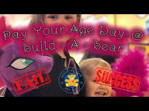 Build A Bear Workshop Pay Your Age Day Fail Or Success Daily Vlog 4k