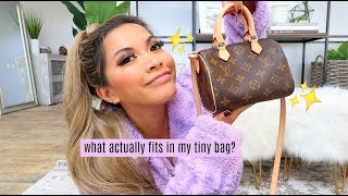 WHAT'S IN MY TINY BAG? Louis Vuitton Speedy Nano 2019 by ThatsHeart