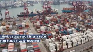 Mexico surpassed China in trade with the United States.