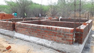 Amazing Construction-how to build a bricklaying basement wall step by step-using by sand and cement