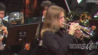 Beth Peroutka Trumpet/ Cornet solo with UNT Brass Band