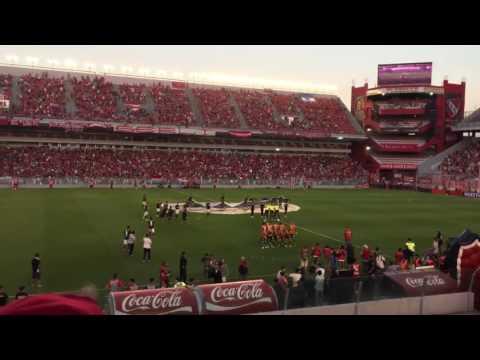 Recibimiento FUEGOS ARTIFICIALES, INDEPENDIENTE vs banfield - La Barra del Rojo - Independiente