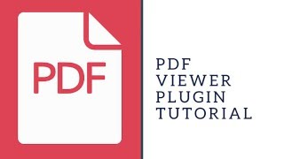 PDF Viewer Plugin Tutorial