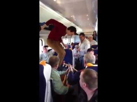 Stepdance på tåg till Dublin