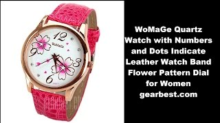 I bought this from gearbest.com WoMaGe Quartz Watch with Numbers and Dots Indicate Leather Watch Band Flower Pattern Dial for Women.http://www.gearbest.com/women-s-watches/pp_77133.htmlWatches categories: Female tableMovement type: Quartz watch Shape of the dial: Round Display type: Pointer The bottom of the table: Ordinary Watch-head: Ordinary Case material: Stainless steelBand material: Leather Clasp type: Pin buckle