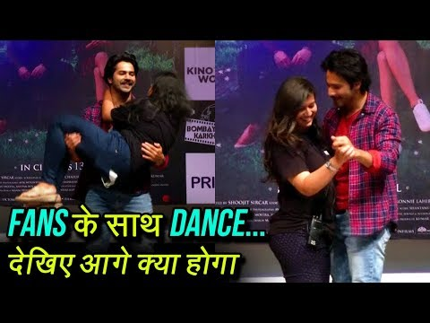 Varun Dhawan Lifts College Girls In His Arms While