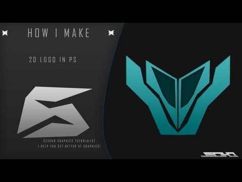 How I MaKe - 2D Logo In PhotoShop | Pattern Overlay Tutorial