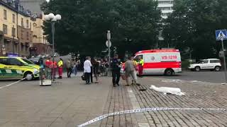 Two people have been stabbed to death in the street in Finland. Six others were injured and taken to hospital after the knife attack ...