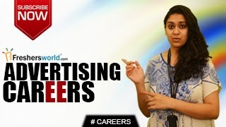 CAREERS IN ADVERTISING.Go through the career opportunities of ADVERTISING, Govt jobs and Employment News channel ...