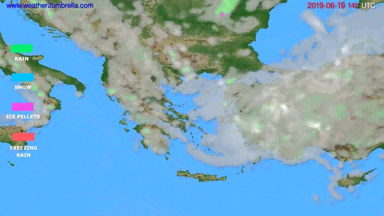 Precipitation forecast Greece // modelrun: 00h UTC 2019-06-17
