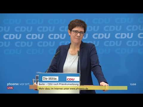 Annegret Kramp-Karrenbauer nach der CDU-Präsidiumssit ...