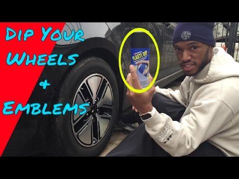 How to PlastiDip Your Wheels and Emblems black On My Kia Optima Hybrid DYI