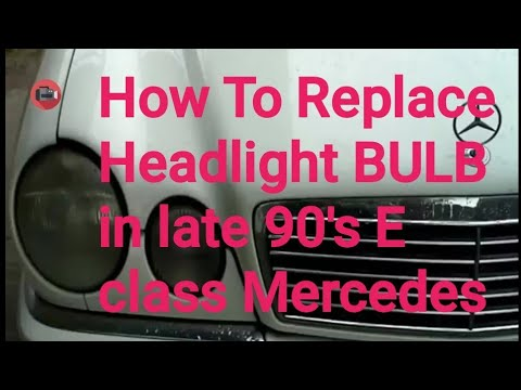 How to replace a headlight in a Mercedes Benz 1997 E 320 ( w210)