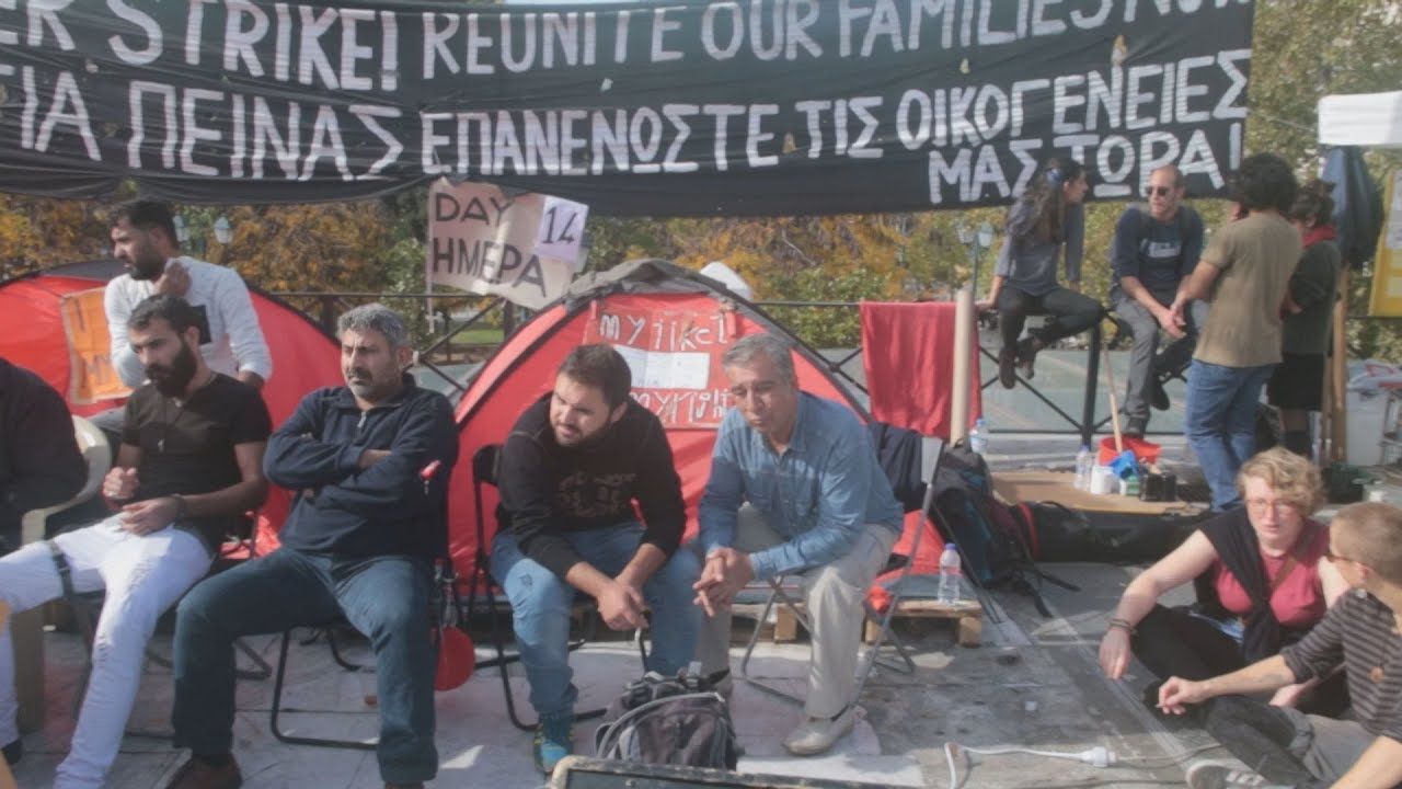 Την διακοπή της απεργίας πείνας ανακοίνωσαν οι πρόσφυγες