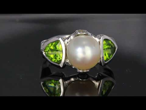 Pearl and Peridot Ring