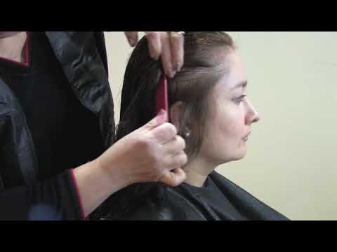 Como cortar el pelo en capas en forma V