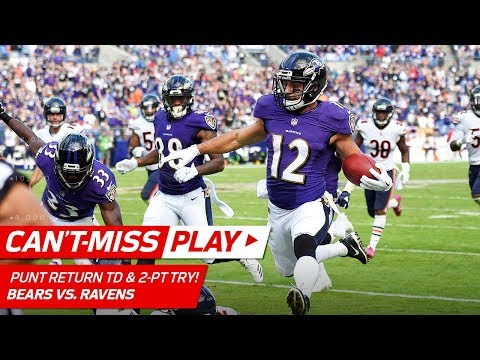 Video: Ravens Go to OT w/ Punt Return TD & One-Handed Grab on Two-Point Try! | Can't-Miss Play | NFL Wk 6