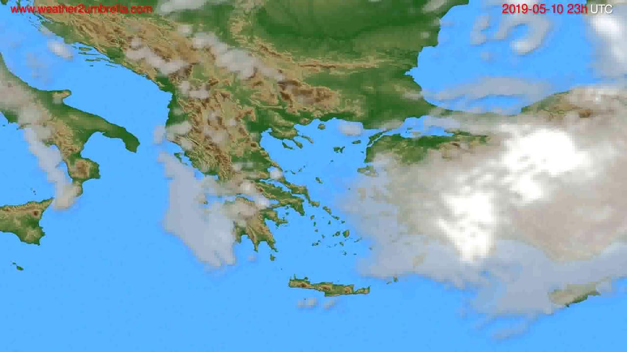 Cloud forecast Greece // modelrun: 12h UTC 2019-05-07