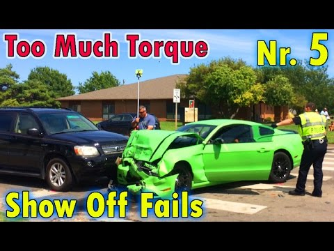 Show Off Fails #5 - When you have too much power under the hood (видео)