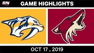 NHL Highlights | Predators vs Coyotes – Oct 17 2019 by Sportsnet Canada