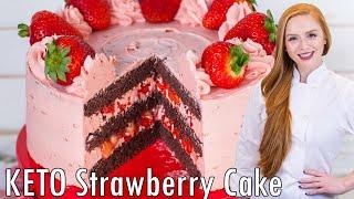 Keto Chocolate Strawberry Cake by Tatyana's Everyday Food