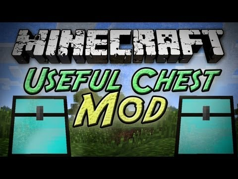 Minecraft: Useful Chest Mod - 104 Slot Chests w/ Sorting! + Snapshot and Skin Update!