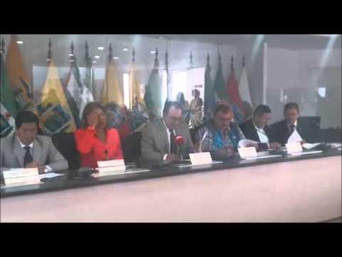 Intervención en la rueda de prensa organizada por la Mancomunidad del Norte y el Consorcio de Gobiernos provinciales de la Amazonía