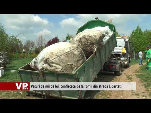 Peturi de mii de lei, confiscate de la romii din strada Libertății