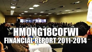 Suab Hmong News: Hmong18COWI Financial Report from 2011 to 2014