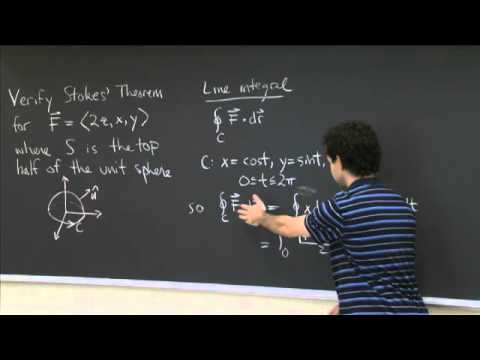 Stokes  'Theorem | MIT 18.02SC Multivariable Calculus, Herbst 2010