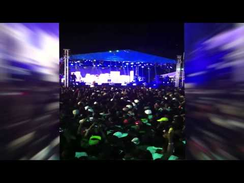 **President Martelly at concert with Chris Brown et Lil Wayne LIVE IN HAITI**