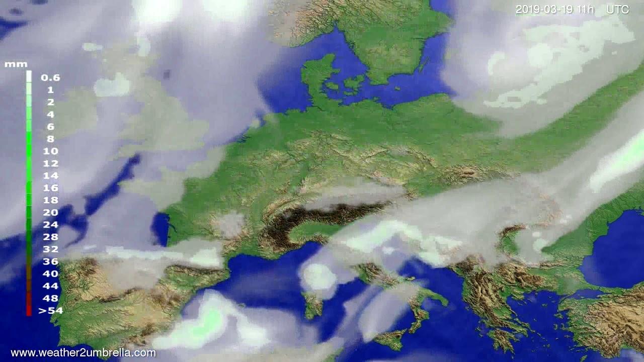 #Weather_Forecast// Precipitation forecast Europe 2019-03-18