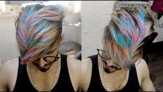 Video Snow White + Pink + Bubblegum Blue (Rainbow) Highlights Hair Color Transformation 2018 | Ratan Singh MP3, 3GP, MP4, WEBM, AVI, FLV Oktober 2018