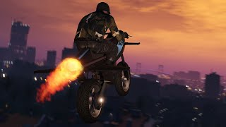 GTA Online - Crossing San Andreas on a Flying Motorcycle by IGN