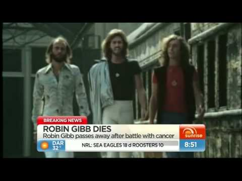 dead at 62 - Bee Gees singer Robin Gibb has passed away at the age of 62 following a long battle with cancer.