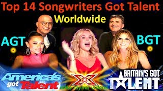 Video Top 14 Best Singer Songwriters Got Talent Auditions! Amazing Worldwide Got Talent Singers! AGT - BGT MP3, 3GP, MP4, WEBM, AVI, FLV Januari 2019