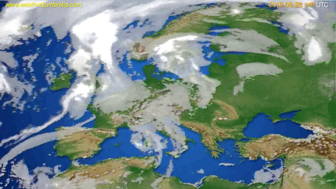 Cloud forecast Europe // modelrun: 12h UTC 2019-08-26