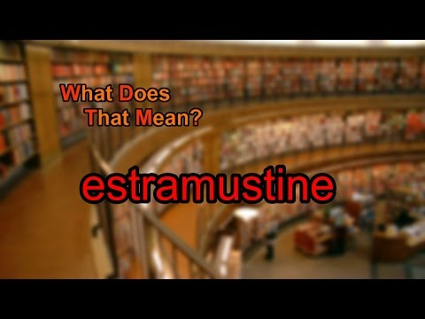 What does estramustine mean?