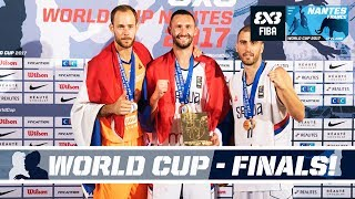 Check out all the action from the final match-ups of the FIBA 3x3 World Cup 2017 from Nantes, France! Schedule (GMT +2): Men:...