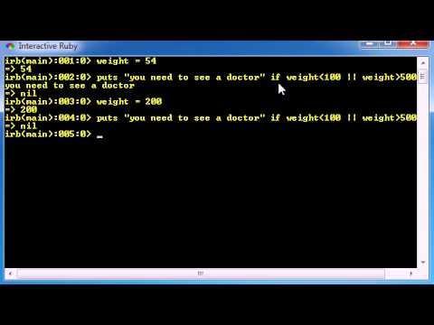 Ruby Programming Tutorial - 16 - unless