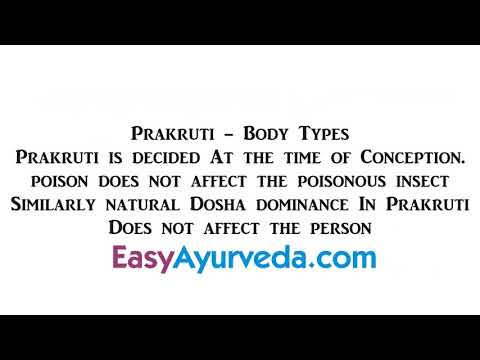 Video Prakriti Dosha Body Type AH Sutrasthana 1 Shloka 10 Repeats download in MP3, 3GP, MP4, WEBM, AVI, FLV January 2017