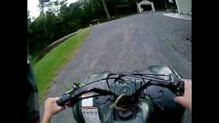 4. Yamaha Grizzly 80 Riding