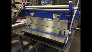 """In this video Andy goes over the Eastwood 30"""" 3 in 1! If you have limited space in your garage then the Shear, Slip Roll and Brake Combination is one metal fabrication tool you need! See it at Eastwood:  http://www.eastwood.com/eastwood-30-3-in-1-sheet-metal-shear-brake-and-slip-roll.html?utm_source=youtubeLIVE&utm_medium=annotation&utm_campaign=2017-07-17&utm_content=3in1%20shear%20brake%20slip%20rollEastwood Sheet Metal Brake, Shear and Slip Roll are three precision engineered metal working tools all rolled into one.Bends, Rolls and Shears up to 30"""" wideWorks on 20 gauge mild steel 24 gauge stainless and 18 gauge aluminumCompact space saving designDesigned for one person operationCreate complex shapes such channels, ribs, patch panels, cones, cylindersCompact design meant to save space and time when working with sheet metal. 6 removable fingers enable you to create boxes and pans up to 30"""" wide. Adjustable stops for both the shear and brake that enable repeatable actions without measuring each time. Spring loaded hold down enables one handed operation of the shear. This machine was designed for one persons ease of use. Create complex shapes such channels, ribs,patch panels, cones, cylinders and much more in sheet metal, wire and tubing, all with one convenient bench mount tool.For more information on Eastwood products visit www.eastwood.com or stay connected with the team via:Facebook - https://www.facebook.com/eastwoodcompany Instagram - http://instagram.com/eastwoodco Blog - http://www.eastwood.com/blog Eastwood has everything you need to do the job right when you're restoring a car, truck or motorcycle - from welders to paint and everything in between."""